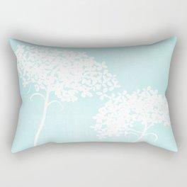 Queen Anne's Lace Blue Rectangular Pillow