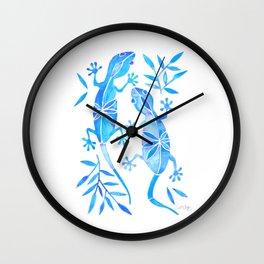 Geckos – Blue Palette Wall Clock
