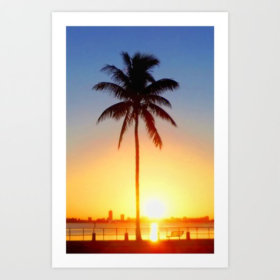 Miami Sunrise Art Print