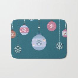 Winter Ornaments Bath Mat