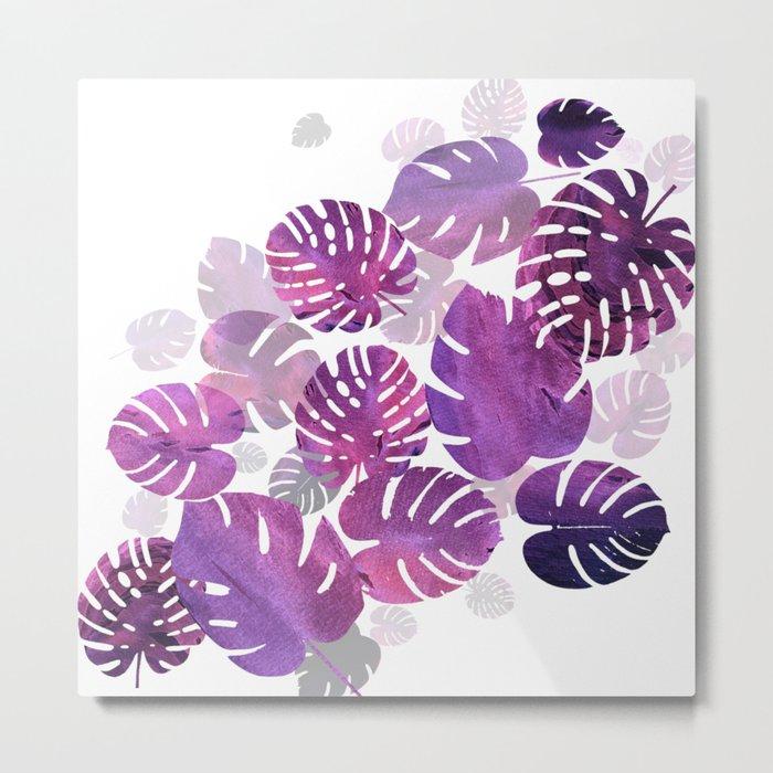 Violet Tropical Metal Print