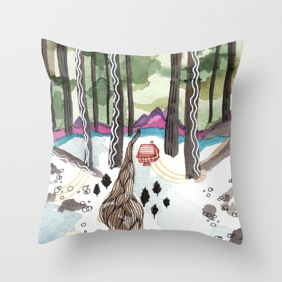 Bagby Trail Throw Pillow