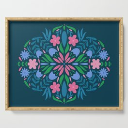 Floral Pattern Serving Tray