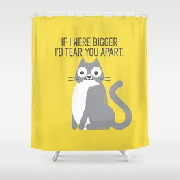Purrfectly Honest Shower Curtain