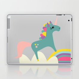 unicorn and rainbow gray Laptop & iPad Skin