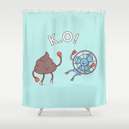 Shit Hits The Fan Shower Curtain