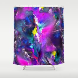 Electric Marble Shower Curtain