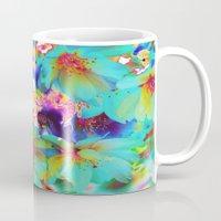 oriental Mugs featuring Oriental Happiness by Aloke Design
