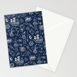 Pirate Play - Blue Stationery Cards