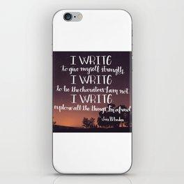 I Write iPhone Skin