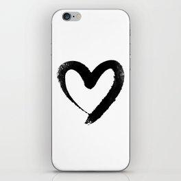 Ink Heart Minimal Fashion Stylish iPhone Skin