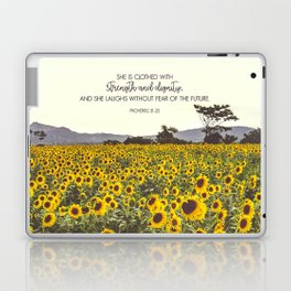 Proverbs and Sunflowers Laptop & iPad Skin