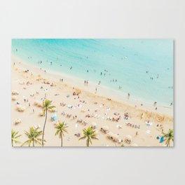 Waikiki beach in Hawaiian summer. Canvas Print