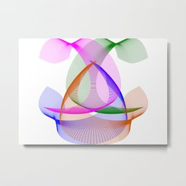 Abstract Colored Lines Metal Print