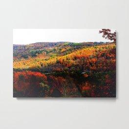 Beaver Valley Autumn - Home Decor. Metal Print