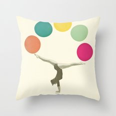 Gymnastics II Throw Pillow