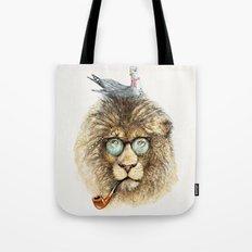 Lion sailor & seagull Tote Bag