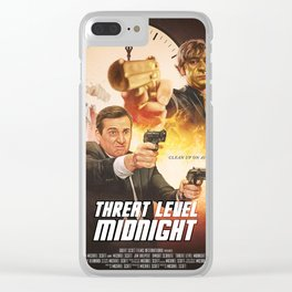 Threat Level Midnight Clear iPhone Case