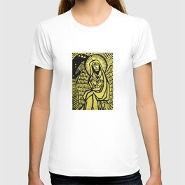 Me - Yellow - Traditional Surrealism Print T-shirt