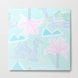Camel Cabana in Psychedelic Blue Metal Print