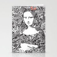 mona lisa Stationery Cards featuring Mona Lisa by Gribouilliz