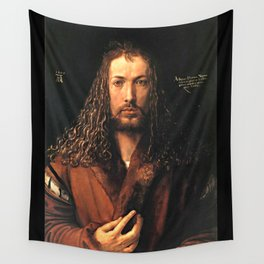 Self-Portrait in a Fur-Collared Robe Wall Tapestry