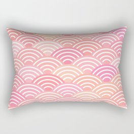 dragon fish scales simple pattern Nature background with japanese wave Rectangular Pillow