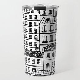 Paris Rooftops Sketch Travel Mug