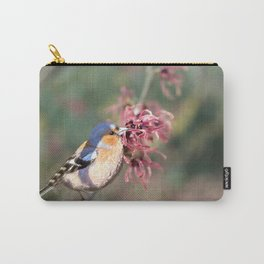 Chaffinch on Witch Hazel Tree Carry-All Pouch