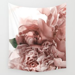 Blush Pink Floral Wall Tapestry
