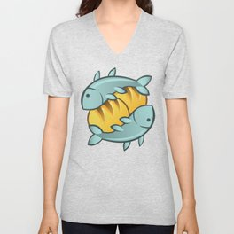 Loaves and Fishes I Unisex V-Neck