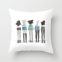 what to wear Throw Pillow