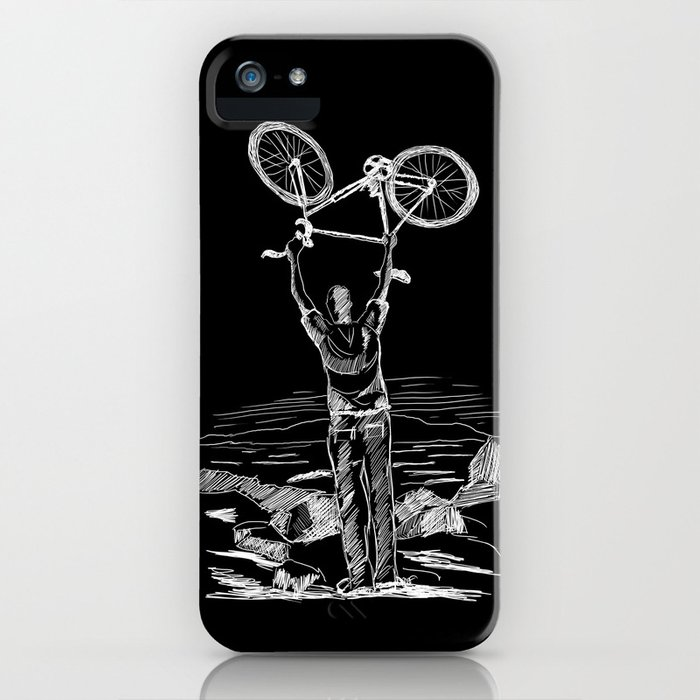 Bike Contemplation iPhone Case