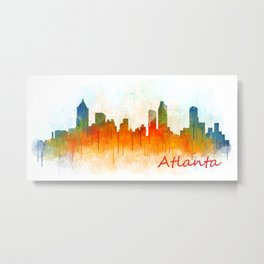 Atlanta City Skyline Hq v3 Metal Print