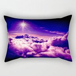 Purple Clouds Rectangular Pillow