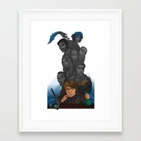 tyrion Framed Art Prints featuring Longest Shadows by Awkwardly Social