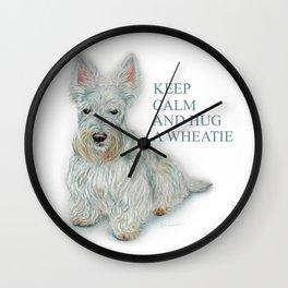 Hug a Wheatie Wall Clock