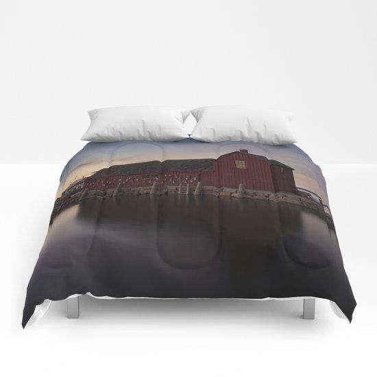 Motif #1 after sunset Comforters
