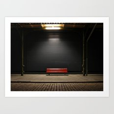 The red bench Art Print