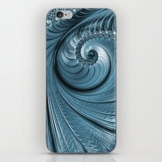 Blue Silver iPhone & iPod Skin