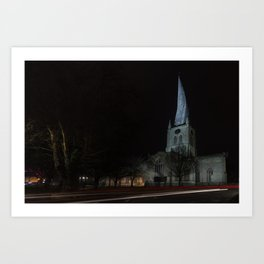 Crooked spire 1 Art Print