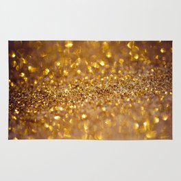 Golden glitter #society6 Rug