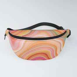 Bubble gum memories - Abstract Pink Pattern Fanny Pack