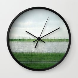 Society6 Most Expensive Home Art - Andreas - S6 - Gursky - Remix Art - PopArt Rhein II (1999) Shear Wall Clock