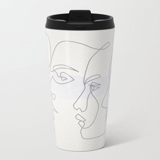 0ne line Profiles Metal Travel Mug