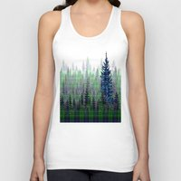 plaid Tank Tops featuring Plaid Forest by LindaWexlerArt