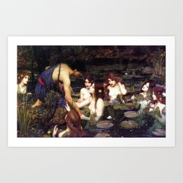 Hylas and the Nymphs,  John William Waterhouse Art Print