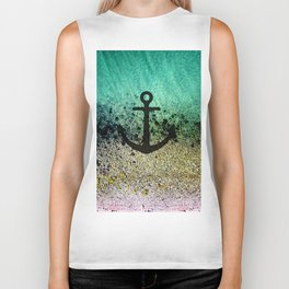 Anchored to the shore Biker Tank