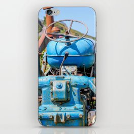 Port Gaverne - Old Blue Tractor iPhone Skin