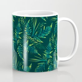 Fern leaves - green Coffee Mug